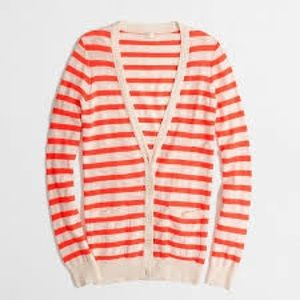 J. CREW FACTORY Neon Stripe V-Neck Cardigan